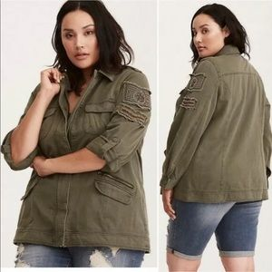Torrid Sz 5 Women's Green Twill Stretchy Cotton